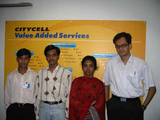 The 3SM Systems Members at Citycell Head Office.